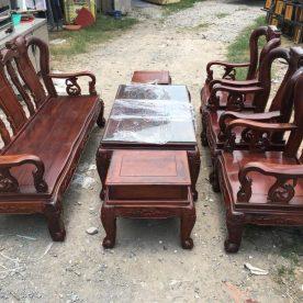 Bàn ghế gỗ cẩm lai phòng khách