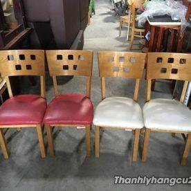 Ghế gỗ nhà hàng giá rẻ mới 90%