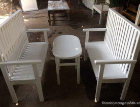 Thanh lý bộ bàn ghế trắng